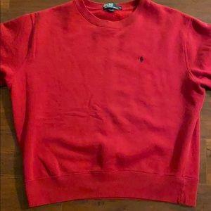 Men's pullover Polo sweatshirt.